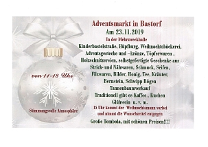 Adventsmarkt in Bastorf am 23. November 2019 © Gemeinde Bastorf
